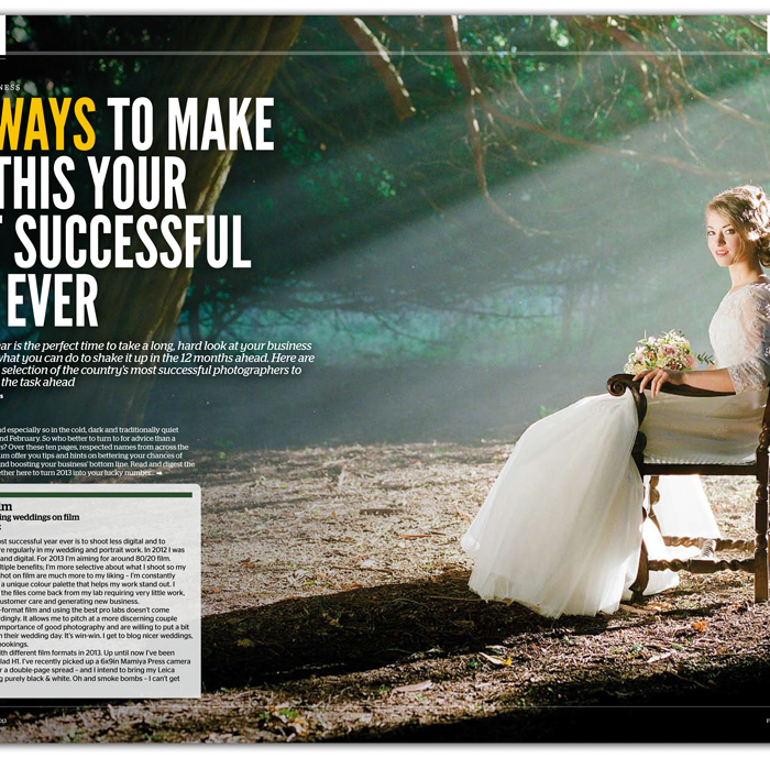 Photo Professional Magazine film wedding photography feature