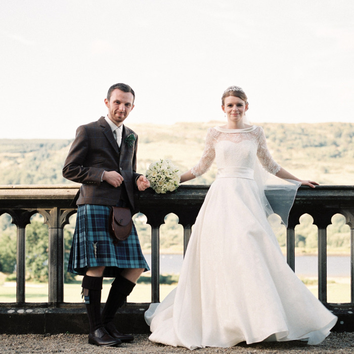 Film wedding photography Mar Hall Glasgow