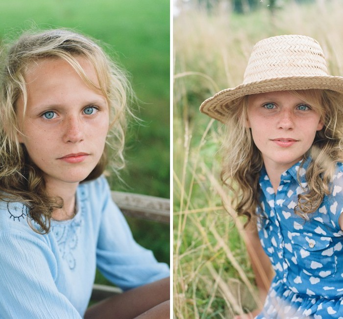 Styled children's shoot photographed on film