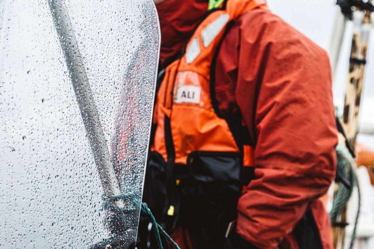 wet windscreen on boat