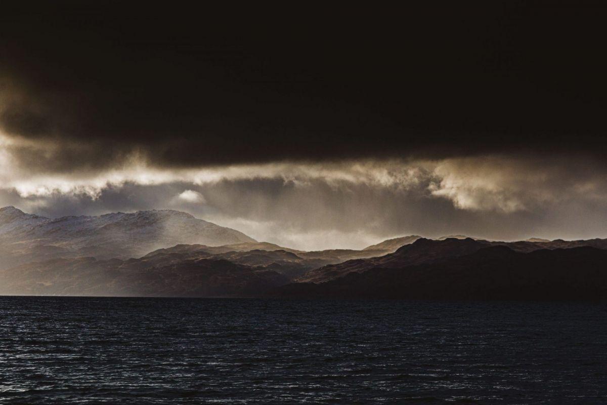 moody Scottish west coast mountains