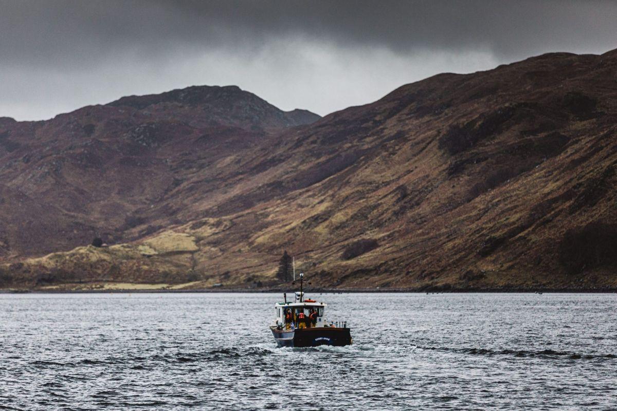 Scottish sea loch and boat