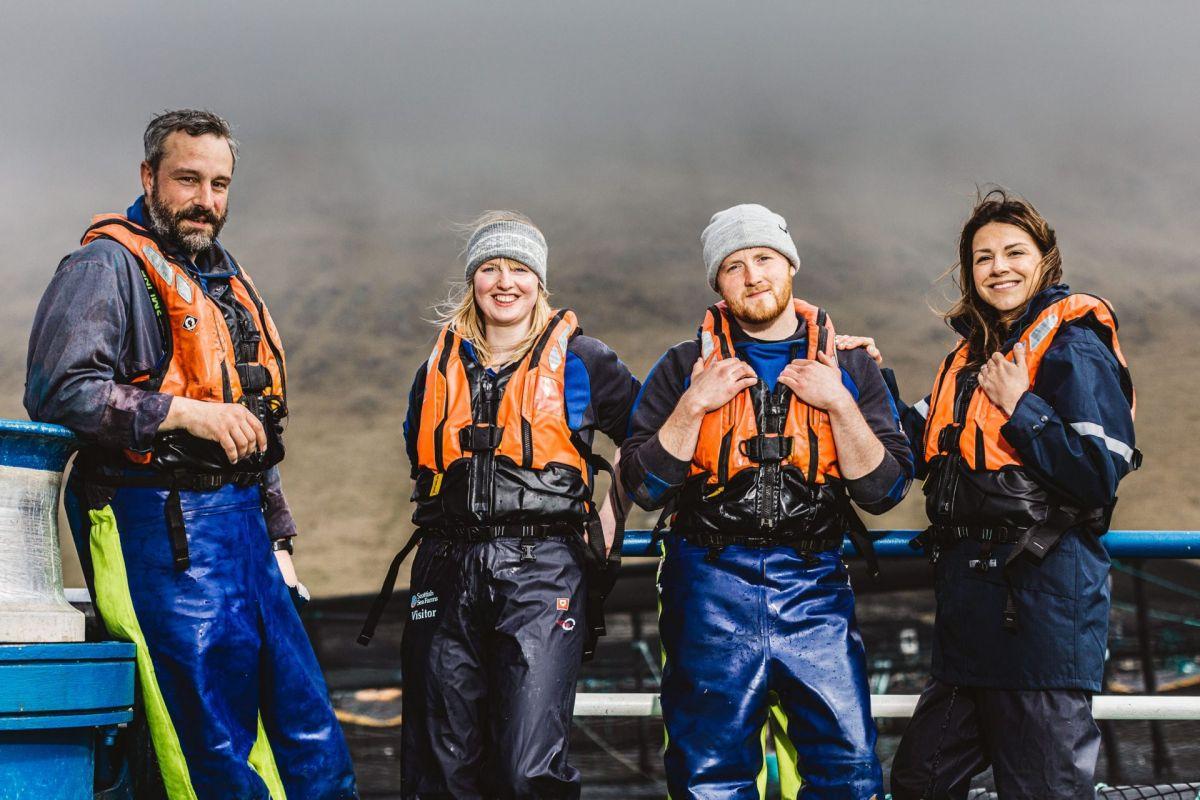 salmon farmers in shetland
