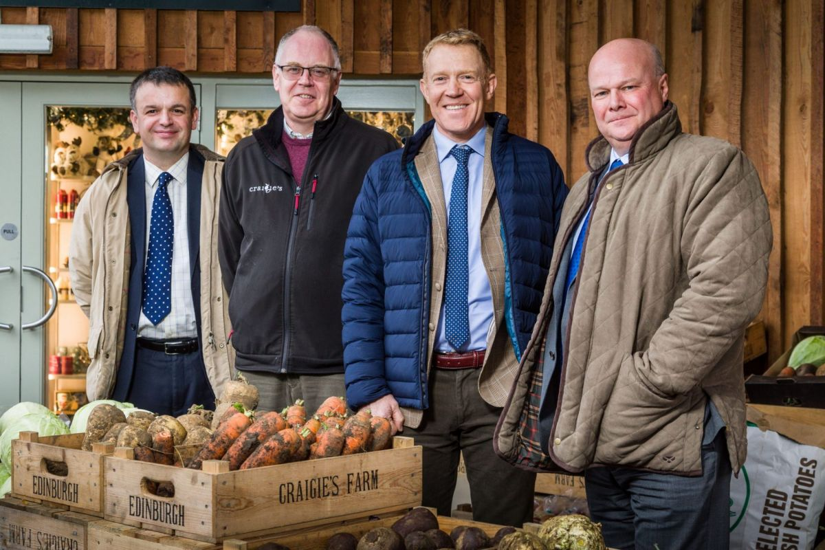 BOS Agriculture team with Adam Henson