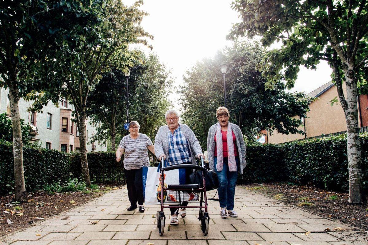Pensioners in Fairfield Perth Scotland
