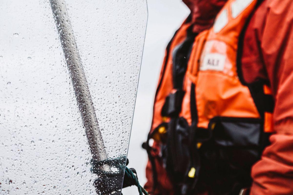 rain on boat windscreen