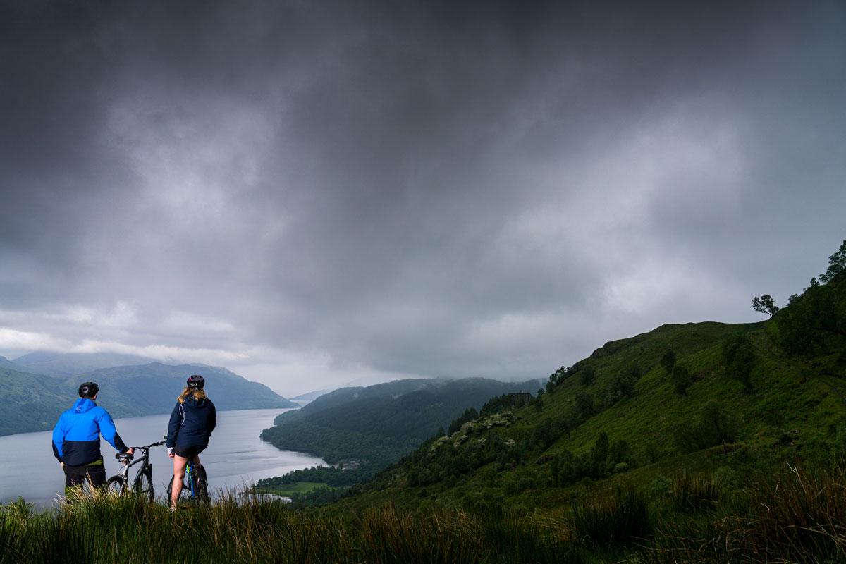 mountain biking on Loch Lomond