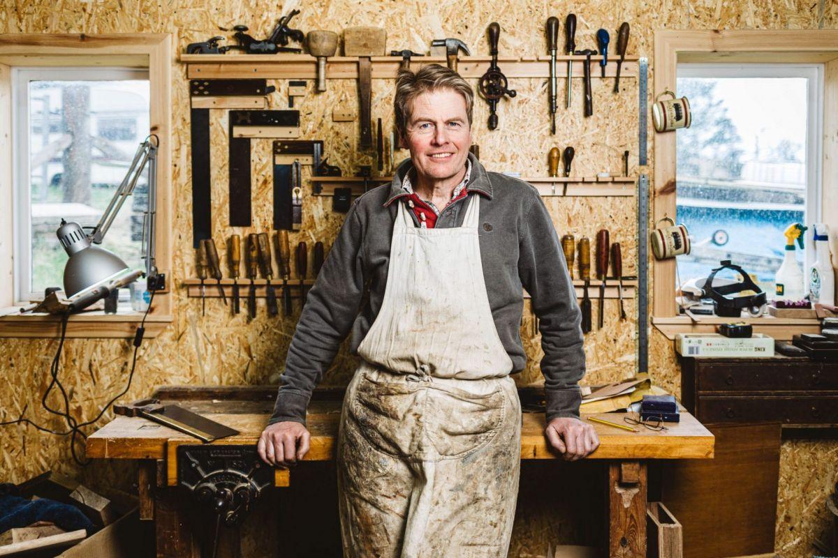 Craftsman at work bench