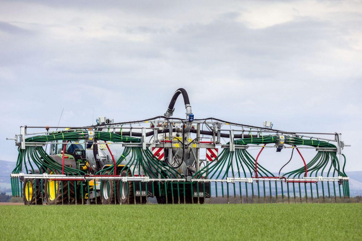 slurry tanker at work