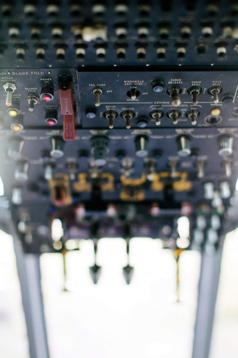 sea king helicopter controls