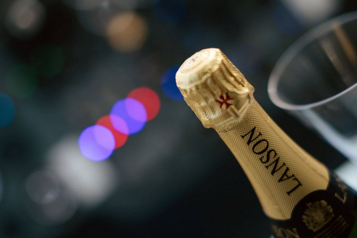 Lanson champagne bottle