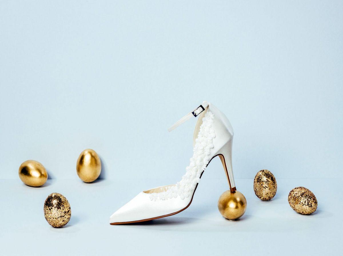 wedding shoe shot in studio